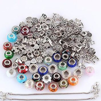 DIY Bracelet & Charms or Charms Set, Charms Fit Pandora Free Shipping