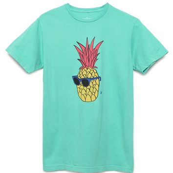 Wellen Party Pineapple T-Shirt - Mens Tee - Green