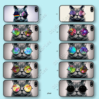 Phone cases, iPhone 5 case, iPhone 5S 5C Case, The sunglasses cat, iPhone 4/4S Case, Samsung Galaxy S3 S4 S5, Note 2 3, 5C0248