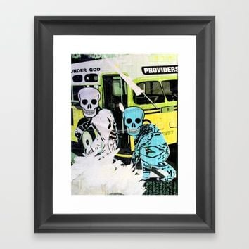 Layers 14 Framed Art Print by EXIST NYC