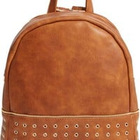 Sole Society 'Prescott' Grommet Faux Leather Backpack | Nordstrom
