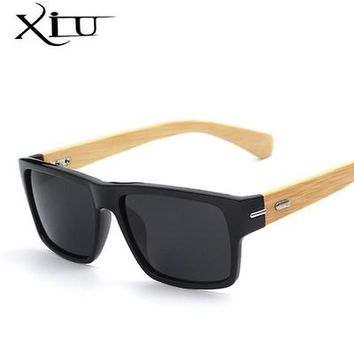 Polarized Sunglasses Men Vintage Bamboo Glasses Fashion Sunglass Women  Brand Designer Oculos De Sol Masculino