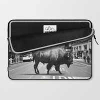 STREET WALKER Laptop Sleeve by Maioriz Home