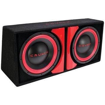 "Crunch Cr-212a Powered Dual 12"" Subwoofer System"