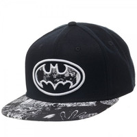 Batman - Black/White Logo Sublimated Bill Snapback