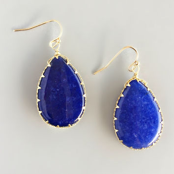 Lapis Lazuli Earrings - Handcrafted in NYC