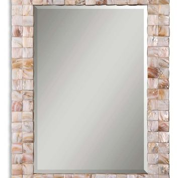 Vivian Mother Of Pearl Mirror by Uttermost