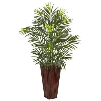 Artificial Tree -Areca Palm in Bamboo Planter