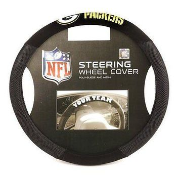 IFSB-FMT98516-NFL Green Bay Packers Poly-Suede Steering Wheel Cover