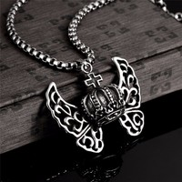 316L Titanium Steel Long Necklace Men Jewelry Vintage Steampunk Women Necklaces Pendants Collares Mujer Colier Bijoux Kolye New - Steampunk Corsets