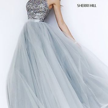 Floor Length High Neck Dress 11316 by Sherri Hill