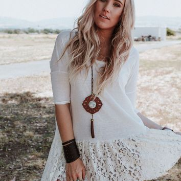 Jesse Lace Trimmed Long Sleeve Tunic