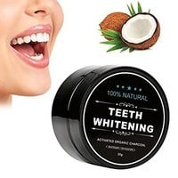 Charcoal Teeth Whitening Powder by Cicinady - 2.2 oz Food Grade Activated Charcoal Powder Charcoal Toothpaste Teeth Whitener Tooth Stain Remover - Pure Charcoal Powder Made from Organic Coconut shell