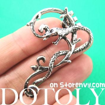 Cobra Snake Animal Wrap Ear Cuff in Silver | DOTOLY Animal Jewelry