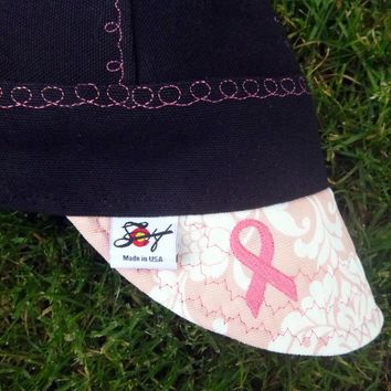 Limited Edition Breast Cancer Embroidered Canvas Welding Cap