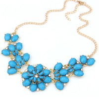 Candy Color Faux Stone Necklace - OASAP.com