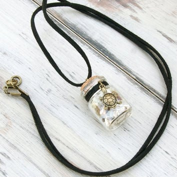 Protection Talisman Bottle - Pendant  - Natural Magic - Safety - Earth Energies