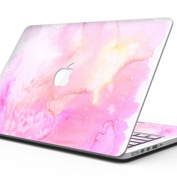Subtle Pink 2 Absorbed Watercolor Texture - MacBook Pro with Retina Display Full-Coverage Skin Kit