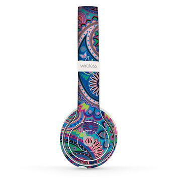 The Bold Colorful Paisley Pattern Skin Set for the Beats by Dre Solo 2 Wireless Headphones