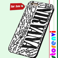 Nirvana all member and song titles collage custom case for smartphone case