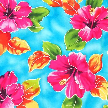 hoopla blue hawaiian fabric