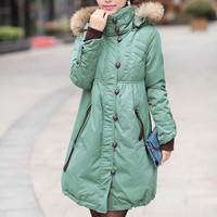 Winter raccoon fur women's medium-long plus size fashion women's down coat