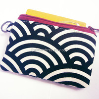 Womens wallet, business card holder, small coin purse, Japan print, id card case, id1830832, travel organizer, portefeuille, portmonaie