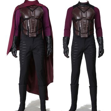 New Arrival X-Men Apocalypse Erik Lehnsherr Magneto Cosplay Costume Any Size  Hallowmas Suit