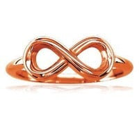 Small Flowing Infinity Ring in 14K White Gold size 5.5