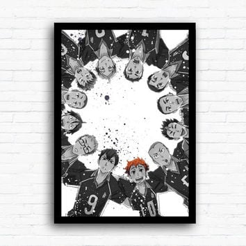 Haikyuu Watercolor Print Poster Wall hanging Art