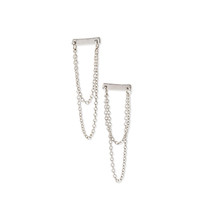Matchstick Chained Drop Earrings