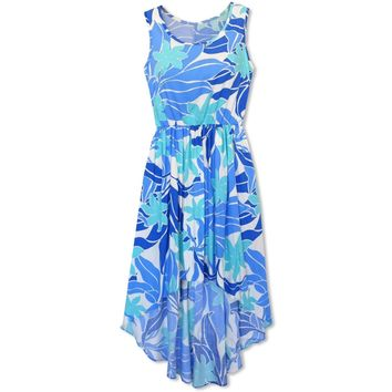 Sea Breeze Blue Sassy Hawaiian Dress