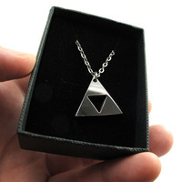 Legend of Zelda Triforce Small Necklace Stainless by milkool