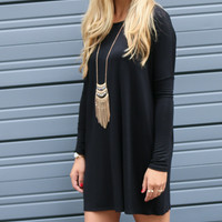 Ellington Black Piko Dress