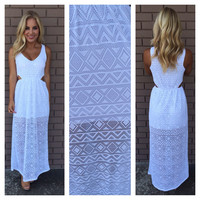 Diamond in the Sky Maxi Dress - WHITE
