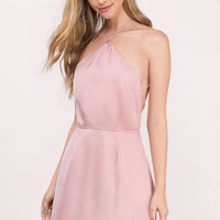 All Along Halter Skater Dress