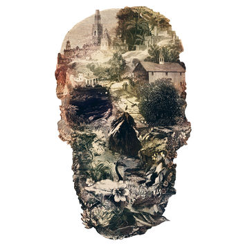 Ali Gulec's Skull Town Wall Decal