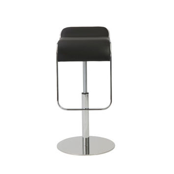 Eurostyle 04387BLK Freddy Black Adjustable Bar/Counter Stool