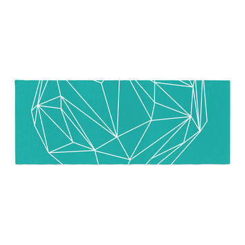 """Mareike Boehmer """"Heart Graphic Turquoise"""" Teal Abstract Bed Runner"""