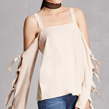 Open-Shoulder Boxy Top