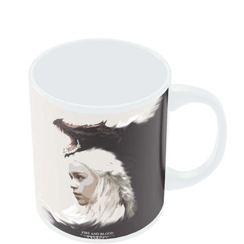 Fire and Blood Khaleesi | Game Of Thrones Fan Art Mug