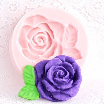 Silicone Mold Victorian Rose - Fondant Mold - Gum Paste Mold - Chocolate Mold - Candy Mold - Flexible Mold