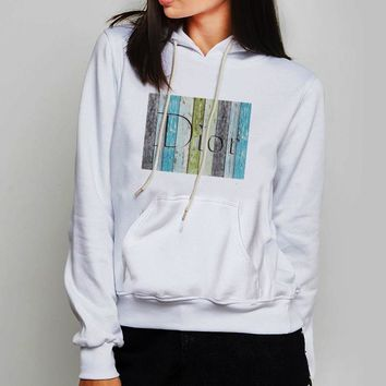 Unisex Hoodie Dior Wood Wallpaper Vintage Art