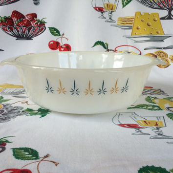 1960s Fire-King Candleglow Casserole Baking Dish 1 1/2 Qt 437 Anchor Hocking Mid Century Vintage Kitchen
