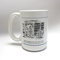 Book Lovers Coffee Cup Booklover's Mug The New Yorker Cartoon B Smaller