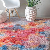 nuLOOM Karissa Abstract Shag Area Rug