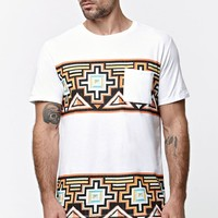 On The Byas Tribal Territory Pocket Crew T-Shirt - Mens Tee - White