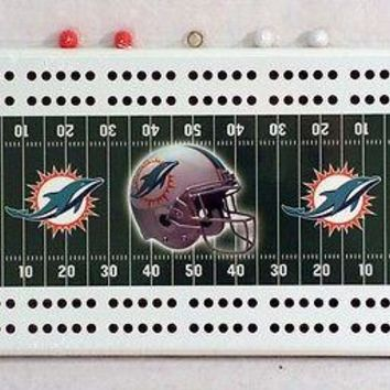 Miami Dolphins NFL Football Cribbage Board