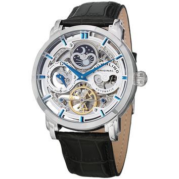 Stuhrling Original Men's Anatol Automatic Skeleton Leather Strap Watch | Overstock.com Shopping - The Best Deals on Stuhrling Original Men's Watches