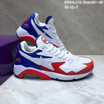 KUYOU N854 Nike Air Max 2 Light New Cushion Casual Running Shoes Red White Blue